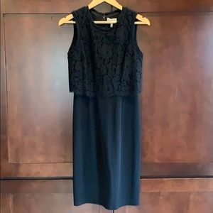 Rebecca Taylor cocktail dress with lace overlay